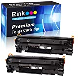 E-Z Ink (TM) Compatible Toner Cartridge Replacement for Canon 125 CRG-125 3484B001 to use with ImageClass LBP6030w ImageClass LBP6000 ImageClass MF3010 Laser Printer (Black, 2 Pack)
