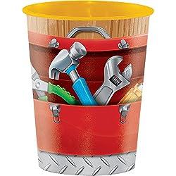 Creative Converting 322307 12 Count Plastic Keepsake Cup, Handyman, 16 oz