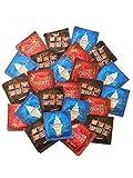Trustex Neopolitan Flavors + Silver Pocket Case, (Chocolate, Strawberry, and Vanilla) Premium Flavored Latex Condoms-24 Count