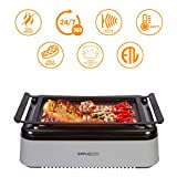 Simple Living Advanced Indoor Smokeless BBQ Grill | Powered with Infrared Technology with Virtually Zero Smoke | Special Reflectors for Indoor Constant Temperatures | Turbo Speed & Easy Cleaning