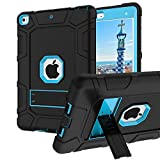 iPad Mini 5 Case, iPad Mini 5th Generation Case, Hybrid Three Layer Armor Shockproof Rugged Drop Protection Cover Case Built with Kickstandfor iPad Mini 5 7.9' 2019 (Sky Blue)