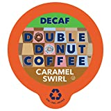 Double Donut Coffee Decaf Caramel Swirl Flavored Coffee Single Serve Cups For Keurig K Cup Brewer (24 Count)