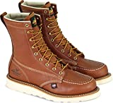 Thorogood 814-4201 Men's American Heritage 8' Moc Toe, MAXwear Wedge Non-Safety Toe, Tobacco Oil-Tanned - 9.5 D US