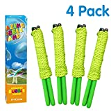 E-Know Bubble Wand, 4 Pack Giant Bubble Wand Outdoor Toy for Kids Made with Durable, Recyclable Stainless Steel, Telescopic Design Bubble Party Favors-Works Best with Bubbleventi Giant Bubble Mix