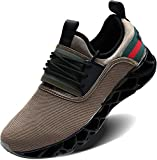 Wonesion Mens Walking Tennis Shoes Blade Slip on Casual Fashion Sneakers
