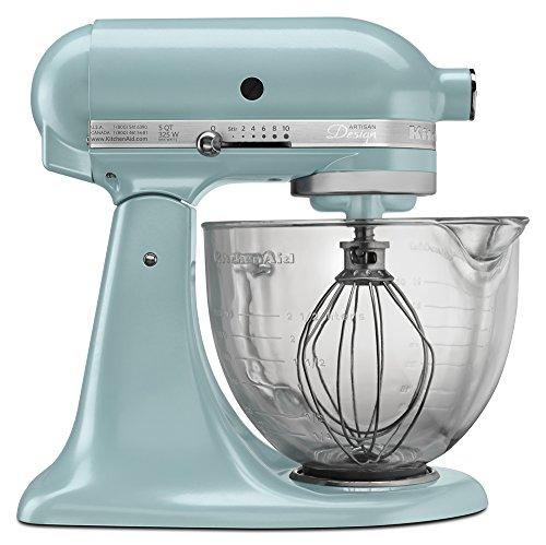 KitchenAid KSM155GBAZ 5-Qt. Artisan Design Series with Glass Bowl - Azure Blue