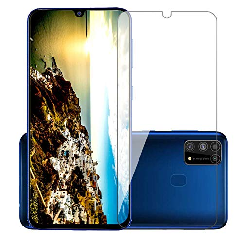 51l9zcyN7gL - POPIO Full Screen Coverage except edges Tempered Glass for Samsung Galaxy M31/M21 with Easy Installation Kit (Transparent)