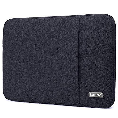 Lacdo 13 Inch Waterproof Fabric Laptop Sleeve Case Compatible Old MacBook Air 13' / MacBook Pro 13.3-Inch Retina 2012-2015/12.9 ipad Pro, HP Asus Acer Chromebook Ultrabook Notebook Bag, Black