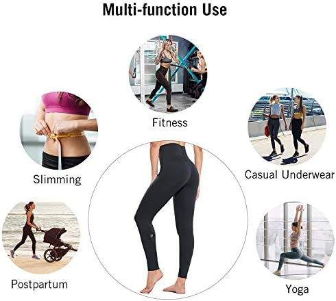 BALEAF Women's Shapewear Postpartum V Leggings for Women Slimming Compression High Waisted Seamless Shaping Pants 6
