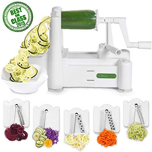 Spiralizer 5-Blade Vegetable Slicer, Strongest-and-Heaviest Spiral...