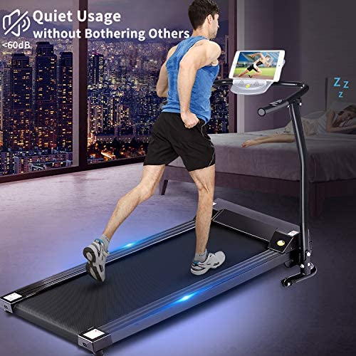 Electric Folding Treadmill for Small Spaces, Ultra-Quiet Portable Exercise Running Machine for Home Workout with 12 Programs & LCD Screen 2