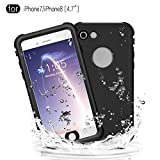 Waterproof Case for iPhone 7/iPhone 8 (4.7 Inch), Full Sealed Protective Cover Built-in Screen Protector IP68 Waterproof Case for Outdoor Sports, Shockproof, Snowproof, Dirtproof (White)