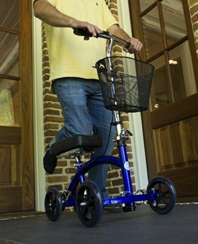 KneeRover Deluxe Steerable Knee Cycle Knee Walker  Scooter Crutch Different in Blue deal 50% off 51lDQ9kK42L