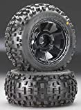 Proline 117811 Badlands 3.8' All Terrain Tire Mounted on Desperado Black Wheels