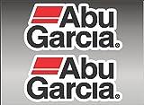 6' ABU GARCIA pair FISHING Logo Decal vinyl sticker graphic