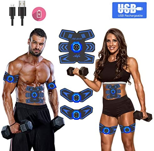 Abs Stimulator Ab Stimulator Recharge Muscle Toner Trainer Ultimate Abs Stimulator for Men Women Abdominal Work Out Ads Power Fitness Abs Muscle Training Gear ABS Workout Equipment Portable 3