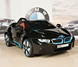 BIG TOYS DIRECT BMW i8 12V Kids Ride On Battery Powered Wheels Car RC Remote Black