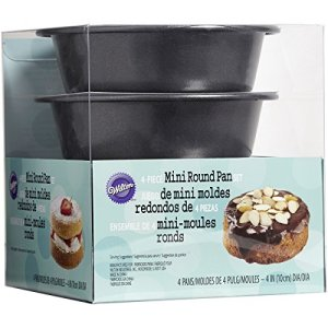 Wilton Mini Cake Pans 4/Pkg-Round 4-inch, Other, Multicoloured, 13.43 x 13.43 x 14.7 cm 51lS3DSzFfL