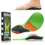 Snapsmile Shoes Insoles for Men and Women - Scientifically Proven Design High Arch Support Orthotic Shoe Inserts Plantar Fasciitis Inserts Super Support Shoe Inserts Men Women - M