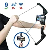 ZD Foldable Bow for Kids & Adults,AR Game Bow Arrow, AR Bluetooth Connect All iOS & Andriod Smart Phone for Virtual Reality Fun with Games