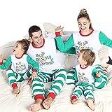 Blaward Christmas Family Matching Pajama Green Striped PJ Sets, Kids, 2T