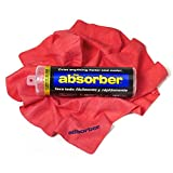 CleanTools 41149 The Absorber Synthetic Drying Chamois, 27' x 17', Red