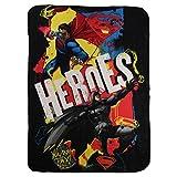 "Kids Fleece Throw Blankets 46"" x 60"" Several Options (Batman Vs Superman)"