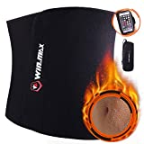 WIN.MAX Waist Trimmer Belt, Adjustable Weight Loss Exercise Ab Bel, Sweat Belt, Low Back and Lumbar Support with Sauna Suit Effect (Black)