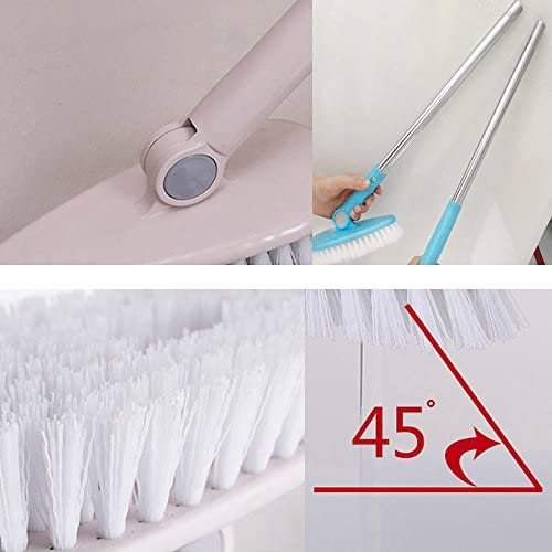 1 Piece Scalable Rotatable Long Extendable Handle Removable Tub/Bathroom/Tile/Scrub Brush Scrubber Telescopic Lightweight Alloy Handle Detachable (Blue)