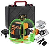 OMMO 3D Self-Leveling Laser Level, 360-degree Horizontal and Vertical Cross 12 Line Green Light Ground Leveling, Green Beam Laser Level for Ceiling, Floor, Wall Decoration, Construction Site