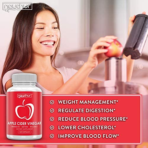 Apple Cider Vinegar Capsules - Detox Cleanse Diet Pills That Work Fast For Women Men – Support Weight Management Metabolism Hunger Appetite Control - Natural Bloating Relief Supplements – ACV Capsules 6