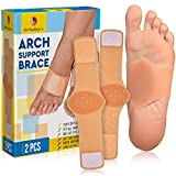 OrthoDoc's Foot Arch Support Brace for Flat Feet Men & Women - Plantar Fasciitis Sleeve Pair - Planters Fasciitis Massager - Foot Compression Wrap - Aids High Arch, Fallen Arch, Foot Heel Pain