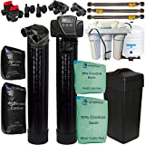 ABCwaters ABCtriplecombo Triple Combo Whole House Fleck 5600sxt 48,000 Grain Softener System w/Upgraded 10% Resin + Upflow Carbon Tank + (HE) 5 Stage Reverse Osmosis Drinking Water Unit 75 GPD, black