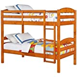 Better Homes and Gardens Leighton Twin Over Twin Wood Bunk Bed (Pine)