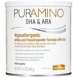 PurAmino Hypoallergenic Amino Acid Based Infant Formula Powder, 4 Count