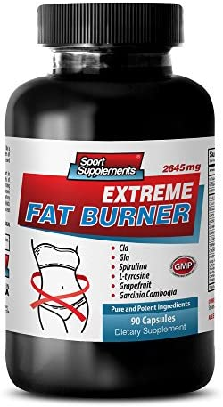 Weight Loss Supplements - Extreme Fat Burner - for Men and Women - Weight Loss Results - Appetite SUPPRESSANT - Cla Belly Fat Formula - 1 Bottle (90 Capsules) 1