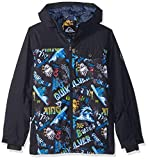 Quiksilver Boys' Big Mission Block Youth 10k Snow Jacket, Black a Night at The Mountain, 14/XL