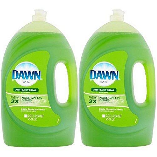 Dawn Ultra Antibacterial Dishwashing Liquid, Apple Blossom, 75 Fl Oz (2 Pack)