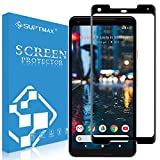 SUPTMAX Screen Protector Tempered Glass for Google Pixel 2 XL [Maximum Coverage] Pixel 2XL Screen Protector Film [Bubble Free] Pixel 2XL Curved Glass Cover (1 Pack 2 XL)