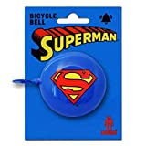 DC Comcis - Superhero - Superman Logo Old Fashioned Bicycle Bell - Bike Bell - blue - Original Licensed Product - LOGOSHIRT by Logoshirt
