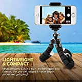 KUshopfast Cell Phone Tripod with Remote and Universial Clip for Smartphone Gopro(Upgrade)