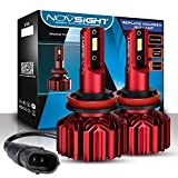 NOVSIGHT Blue H11 H8 H9 Conversion Kits, Extremely Bright CSP Chips All-in-One LED Headlights/Fog Light Bulb, 10000LM 6000K Xenon White, 2 Year Warranty