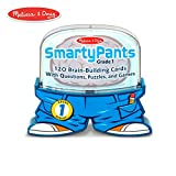 Melissa & Doug Smarty Pants 1st Grade Card Set - 120 Educational, Brain-Building Questions, Puzzles, and Games