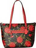COACH Women's Camo Rose Taylor Tote Silver/Brown/Red One Size