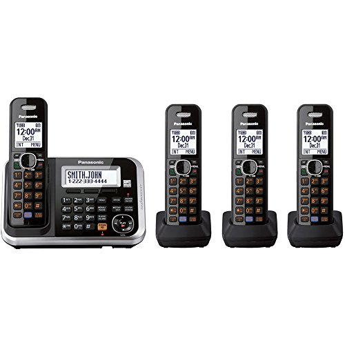 Panasonic KX-TG6843 Dect 6.0 Expandable Digital Cordless Answering System with 3 Handsets