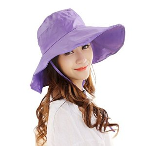 Women s Rain Hats Waterproof Rain Hat Wide Brim Bucket Hat Rain Cap Sun Hats 0c110319ae0d