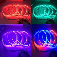NBWDY-4pcs-17Inch-RGB-Multiple-Dream-Color-Wheel-Lighting-kit-with-Dream-Color-Blue-Tooth-Controller-with-312LEDsfits-Most-Pickup-Trailer-SUV-RV-Van-Car-Wheel-Lighting