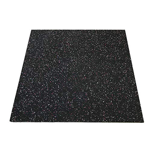 RevTime Anti-Vibration Mats, 28″ x 28″, 5/8″ (15 mm) Thick Rubber Mats, Anti-Walk, Anti-Move, Anti-Noise for Washer, Dryer, Audio Equipment, Strength Training Equipment Mat (Pack of 2)