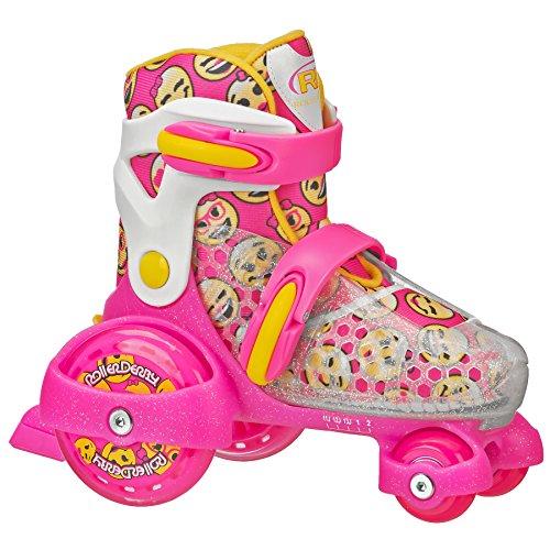 Roller Derby Girl's Fun Roll Adjustable Roller Skate, Medium (11-2)