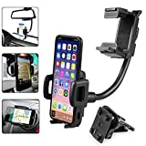 EEEKit Universal 2in1 Car Air Vent/Rearview Mirror Mount Phone Holder for Samsung Galaxy Note 9 8 S10/S10E/S9/S9+ S8/S8+ S7/S7 Edge S6 GPS and More